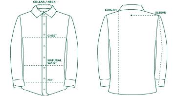 Калькулятор розмірів чоловічих сорочок онлайн. a79b5b809415a